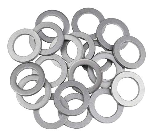 VOTEX - 20 Pack - M14 Aluminum Oil or Coolant Crush Washers/Drain Plug Seal Ring Gasket - MADE IN USA