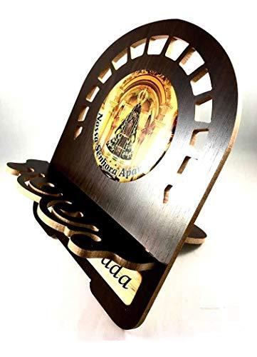 Porta Bíblia Imagem Resinada Suporte Pequeno De Madeira Foto