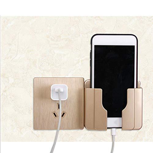 ALEOHALTER Soporte adhesivo universal, soporte de montaje en pared para carga de teléfono (oro)