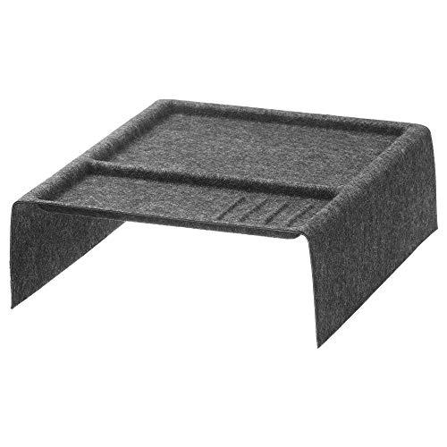 SIU Rangement avec Compartiments Gris foncé, Dimensions assemblées : Longueur 41 cm, Largeur 38 cm, Hauteur 12 cm, matière 100% Polyester