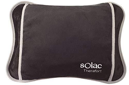 Solac CB8981 - Bolsa de agua termica Caldea, 360 W, ergonomica, 120 minutos de autonomia, conector extraible, tacto suave, tejido transpirable, color azul oscuro