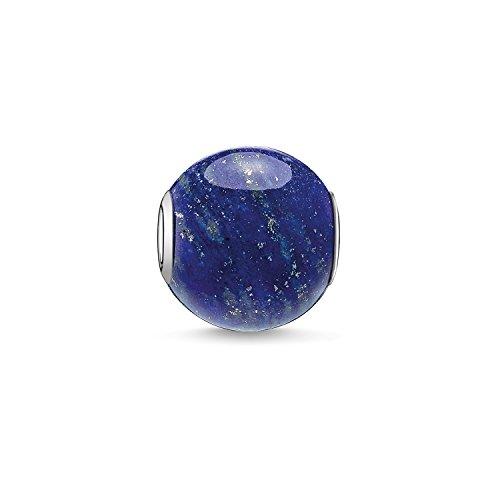 Thomas Sabo Damen Herren-Bead Karma Beads 925 Sterling Silber Lapislazuli poliert blau K0071-592-1