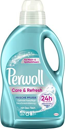 Perwoll Care und Refresh Frische Pflege, Feinwaschmittel, 24 (1 x 24) Waschladungen, für Misch und Synthetikfasern