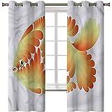 Cortinas opacas impresas en 3D, con ojales térmicos aislados para acuario, peces de colores abstractos artísticos, 2 paneles de 42 x 72 pulgadas, cortinas de oscurecimiento para sala de estar