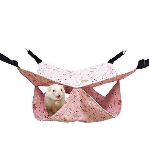 Hamac Mince pour Animaux de Compagnie, literie pour Planeur en Sucre d'été lit de Chinchilla Rat lit superposé Ferret hamac Accessoires de Cage pour cobaye