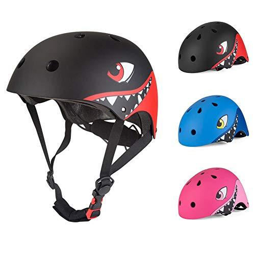 QKJZWJ Kinderhelm, fiets Skateboard Scooter helm, Verstelbare Ademende Helm, Kinderrolschaatsen Beschermend Gear, Veiligheid Lichtgewicht