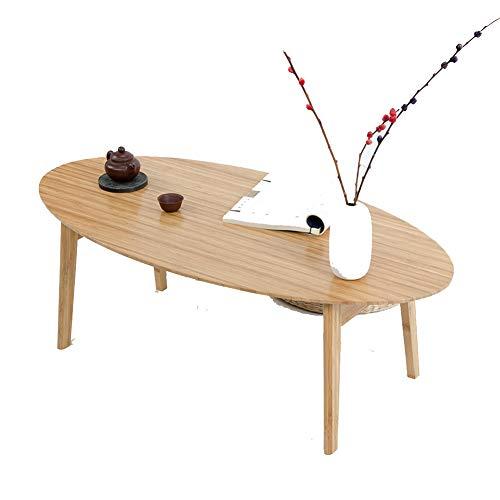 KSUNGB Mesa plegable estilo japonés simple de bambú multifunción sala de estar mesa de comedor mesa de ordenador escritorio portátil soporte de aprendizaje escritorio 100*50*34cm Color madera.