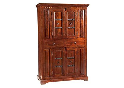 MASSIVMOEBEL24.DE Kolonialstil Schrank Akazie massiv Holz Oxford #402