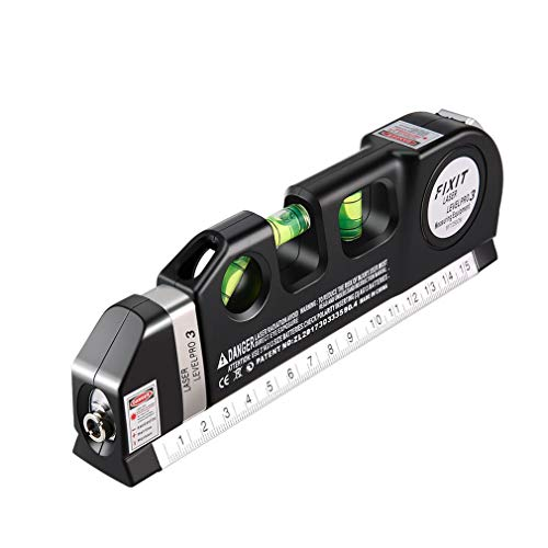 Prinsong Nivel láser Medidor Vertical Horizon 8FT Alineador Regla estándar y métrica
