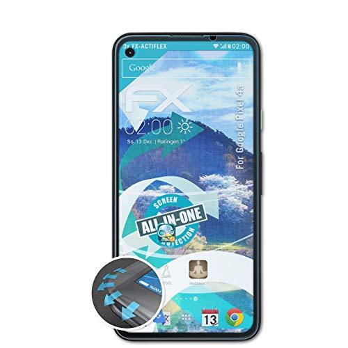 atFolix Schutzfolie kompatibel mit Google Pixel 4a Folie, ultraklare und Flexible FX Displayschutzfolie (3X)