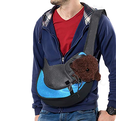 Rednut Pet Sling Carrier,Dog Sling Carrier Breathable Mesh Travel Safe Sling Bag- Single Shoulder Carrier Pet Padded Strap Tote Bag for Small Dog Cat Puppy
