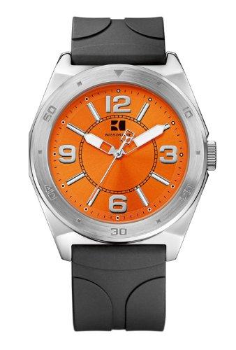 Boss Orange 1512898 - Reloj de Cuarzo para Hombre, con Correa de Goma, Color Negro