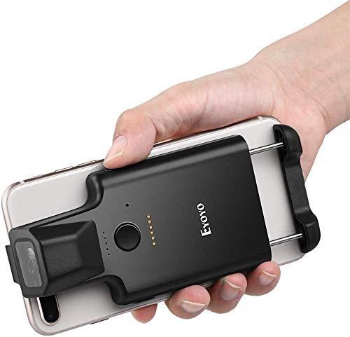 Eyoyo 2D Portable Bluetooth Code-Barres Scanner, Arrière Clip sans Fil 1D QR Lecteur avec Fonction PDF417 Données Matrix Code Maxicode Image Balayage pour Smartphone, IPHONE