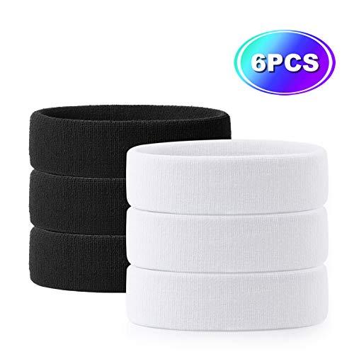 Hoter Sweatband Headband Wristbands Athletic Exercise Basketball Wrist Sweatband and Headbands Moisture Wicking Sweat Absorbing Head Band 2Pcs/3Pcs