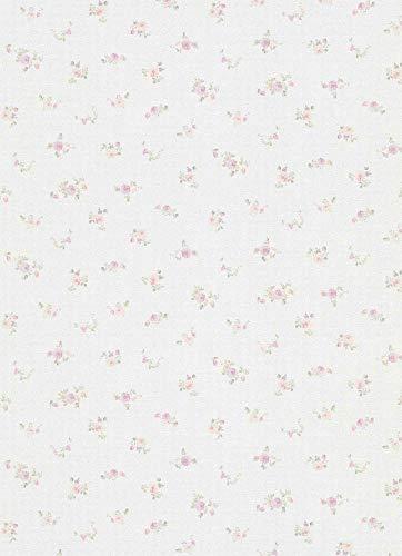 Landhaus Vlies Floral Blumen Tapete 5827-05 Erismann rosa grün weiß