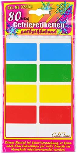Étiquettes autocollantes gefrier 80 pièces multicolore
