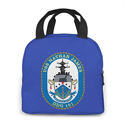 Uss Nathan James Portable Insulated Lunch Bag Waterproof Tote Bento Bag Lunch Tote