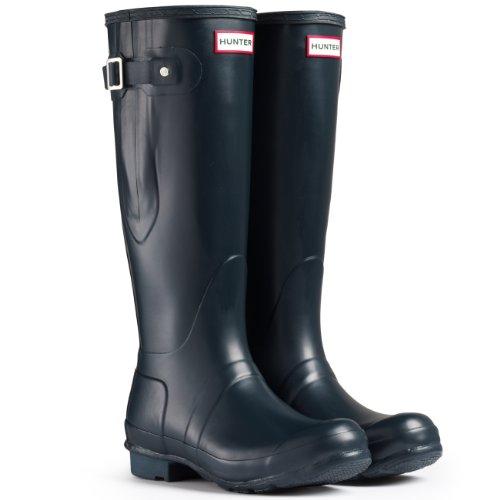 HUNTER Original Adjustable Damen Fest Gummistiefel Wellington Boots - Blau - 38