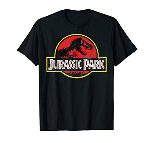 Jurassic Park Classic Red And Yellow T-Rex Logo T-Shirt