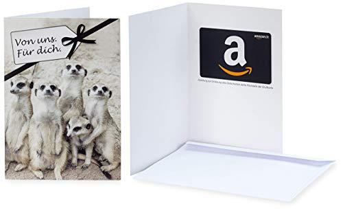 Amazon.de Geschenkkarte in Grußkarte (Von uns. Für dich)