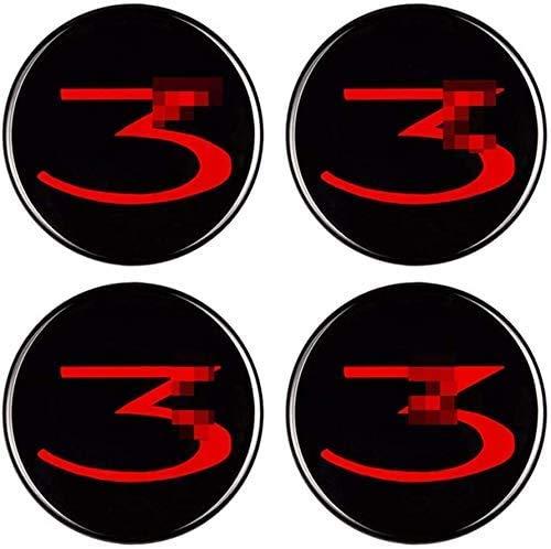BGQ Cubiertas de Tapas de Centro de Cubo de Rueda de automóvil 60MM para Tesla Model 3 Cubiertas de Emblema de Insignia de Repuesto Cubiertas Decorativas de Rueda de Coche 4 Piezas
