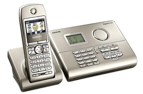 Siemens Gigaset S645 silber, schnurlos Telefon DECT, Freisprechen in der Basis, Farbdisplay, AB und Komfort-Mobilteil