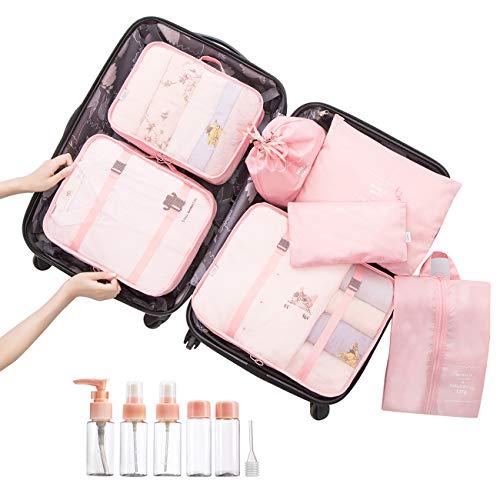 Overmont Kleidertasche Kofferorganizer 7-teiliges Packtasche Set Reisegepäck Organizer für Rucksack Koffer Handgepäck...