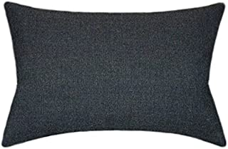 TPO Design Sunbrella Spectrum Carbon Indoor/Outdoor Textured Patio Pillow 12x18 (Rectangle)