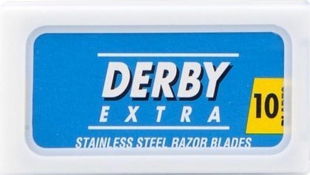 中毒ハブブフィットDerby Extra Blue 両刃替刃 10枚入り(10枚入り1 個セット)【並行輸入品】