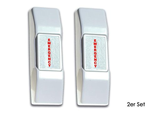 2er Set Panikschalter mit NC- & NO- Anschluss, Momentkontakt off/on, Sicherheitstechnik