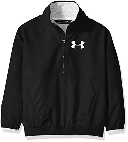 Under Armour Girls' Boat House Jacket, Black (002)/White, Youth Medium