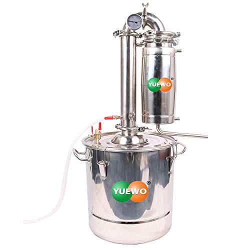 DIY 18~65 L Litro Nuevo CASA Alambique Destilador Acero Inoxidable Destilación Enfriador...