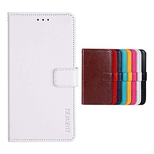 SHIEID Hülle für TP-LINK Neffos C5 Plus Hülle Brieftasche Handyhülle Tasche Leder Flip Case Brieftasche Etui Schutzhülle für TP-LINK Neffos C5 Plus(Weiß)