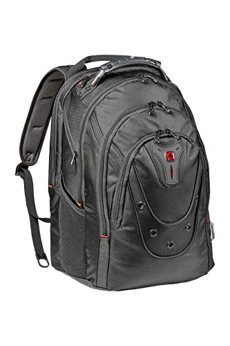 Wenger 605501 17' Ibex 125th Anniversary Laptop Backpack with Tablet Pocket - Black Ballistic {26 Litres}