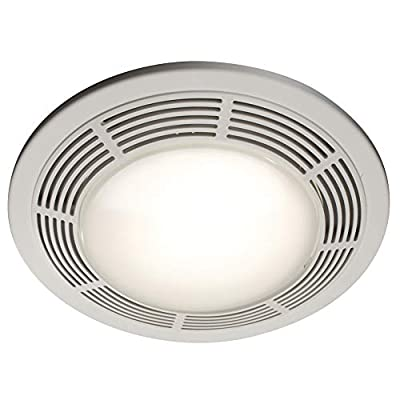 Broan-Nutone 750 Round Fan and Light Combo for Bathroom and Home, White Grille with Glass Lens, 100-Watts, 3.5 Sones, 100 CFM