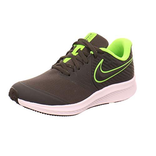 Nike Star Runner 2 (GS) Laufschuh, Grau Anthracite Electric Green White 004, 38.5 EU