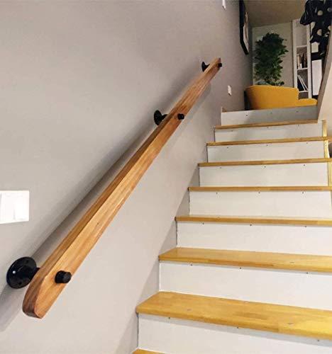 Anti-Rutsch-Treppengeländerhandlauf Handlauf, Massivholz-Sicherheit Treppengeländer, Haus gegen die Wand Indoor Loft ältere Geländer Geländer Korridor Stützstange (Size : 50cm)