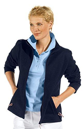 clinicfashion 13014005 Sweat-Jacke für Damen, dunkelblau, Mischgewebe, Größe L