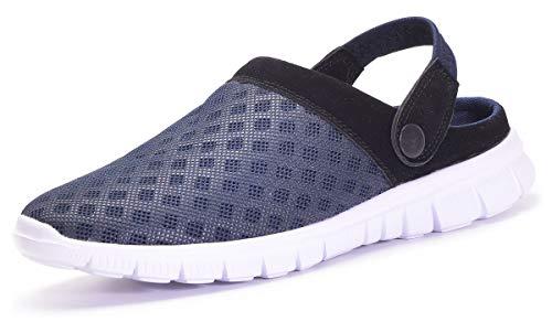 Zapatillas de Jardin Mujer Sandalias de Playa Hombre Zuecos de Sanitarios Zapatillas Ligeros Respirable Zapatos Verano,Azul oscuro,EU 42