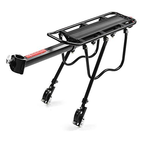 PQXOER Soporte trasero de bicicleta de aleación de aluminio para portaequipajes de bicicleta, soporte de asiento trasero para poste de montaje Accesorios para bicicletas de adultos