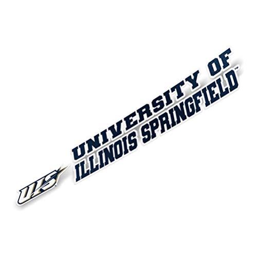 University of Illinois Springfield UIS Prairie Stars Name Logo Vinyl Decal Laptop Water Bottle Car Scrapbook (8 Inch Sticker)