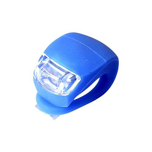 fahrradlicht Kinder led licht Clip Silikon Fahrrad Lichter Roller leuchten Räder LED-Licht einclipsen Roller Lichter Rollerlichter für Kinder Blue,Freesize