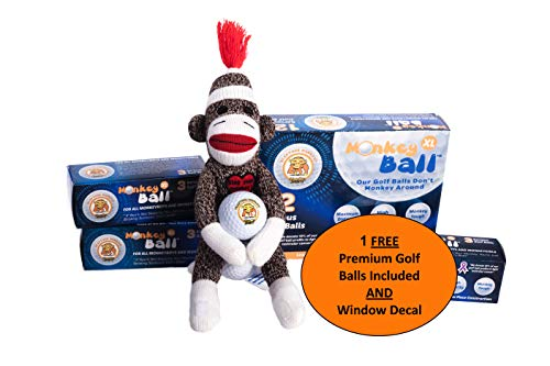 Slap Yo Monkey! Golfers Stress Doll 1 Ball | Holds Golf Ball in Head | Funny Gag Gift Gets The Laughs | Mulligan Stuff Sack for Glove, Tees & More | Bag Ball Holder | Funny Gifts White Elephant