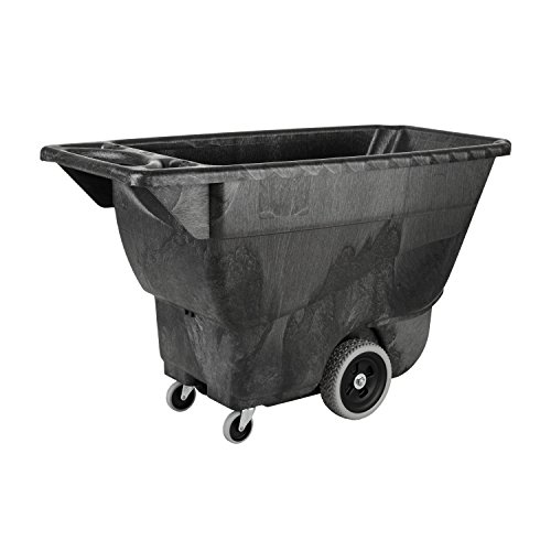 Rubbermaid Commercial Products FG9T1300BLA Polyethylene Box Cart, 450-Pound Load Capacity, Black