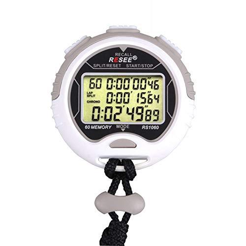 CICIN Reloj Digital de Mano Impermeable Cronómetro Deportivo, Cronógrafo Contador Temporizador Reloj de Mano Deportivo Cronómetro con Correa