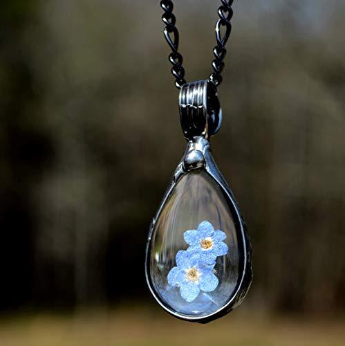 Forget me not necklace  Stainless steel pendant