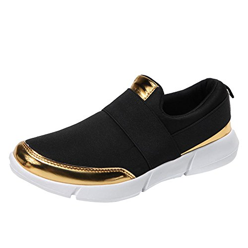 IEason-shoes, Women Mesh Casual Loafers Breathable Flat Shoes Soft Running Shoes Gym Shoes (8,...