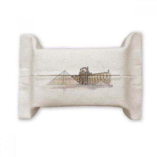 DIYThinker Louvre Museum in Paris France Coton Lin Boîte de rangement pour papier de soie Cadeau