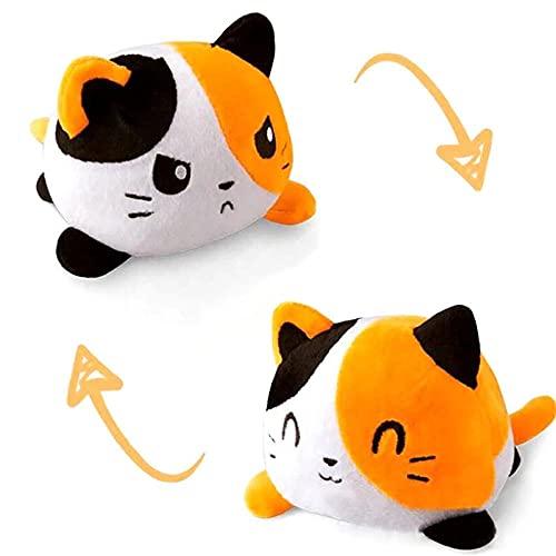 thematys - Pupazzo di peluche reversibile, da utilizzare   Peluche a forma di gatto da 15 cm – Peluche di peluche reversibile (Style 006)
