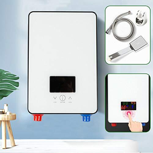 ROMYIX Calentador de Agua eléctrico instantáneo de 6500 vatios sin Tanque, Caldera eléctrica de Calentamiento instantáneo, Pantalla Digital LCD
